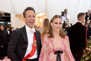Seth Meyers and Alexi Ashe attend The 2019 Met Gala Celebrating Camp: Notes on Fashion at Metropolitan Museum of Art on May 06, 2019 in New York City.