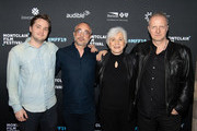 Sam Eggers, Harry Mavromichalis, Olympia Dukakis and Andrew Ford arrive at the 2019 Montclair Film Festival on May 5, 2019 in Montclair, New Jersey.