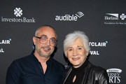 Harry Mavromichalis and Olympia Dukakis arrive at the 2019 Montclair Film Festival on May 5, 2019 in Montclair, New Jersey.
