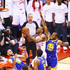Stephen Curry Andre Iguodala Photos - Kawhi Leonard #2 of the Toronto Raptors drives to the basket against Stephen Curry #30 and Andre Iguodala #9 of the Golden State Warriors in the second quarter during Game One of the 2019 NBA Finals at Scotiabank Arena on May 30, 2019 in Toronto, Canada. NOTE TO USER: User expressly acknowledges and agrees that, by downloading and or using this photograph, User is consenting to the terms and conditions of the Getty Images License Agreement. - 2019 NBA Finals - Game One