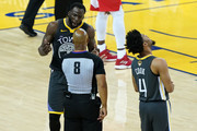 Draymond Green #23 of the Golden State Warriors argues with referee Marc Davis #8 in the second half against the Toronto Raptors during Game Six of the 2019 NBA Finals at ORACLE Arena on June 13, 2019 in Oakland, California. NOTE TO USER: User expressly acknowledges and agrees that, by downloading and or using this photograph, User is consenting to the terms and conditions of the Getty Images License Agreement.