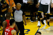 Klay Thompson #11 of the Golden State Warriors reacts after hurting his leg against the Toronto Raptors in the second half during Game Six of the 2019 NBA Finals at ORACLE Arena on June 13, 2019 in Oakland, California. NOTE TO USER: User expressly acknowledges and agrees that, by downloading and or using this photograph, User is consenting to the terms and conditions of the Getty Images License Agreement.