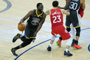 Draymond Green #23 of the Golden State Warriors drives to the basket against the Toronto Raptors in the second half during Game Six of the 2019 NBA Finals at ORACLE Arena on June 13, 2019 in Oakland, California. NOTE TO USER: User expressly acknowledges and agrees that, by downloading and or using this photograph, User is consenting to the terms and conditions of the Getty Images License Agreement.