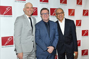 (L-R) Taylor Mac, Nathan Lane, and George C. Wolfe attend the 2019 New Dramatists Luncheon at The New York Marriott Marquis on May 14, 2019 in New York City.