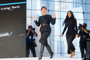 Kris Jenner and Kim Kardashian West speak onstage at 2019 New York Times Dealbook on November 06, 2019 in New York City.