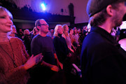 Guests watch Patti Smith perform on stage during the 2019 New Yorker Festival on October 11, 2019 in New York City.