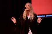 Patti Smith performs on stage during the 2019 New Yorker Festival on October 11, 2019 in New York City.