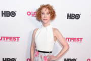 Kathy Griffin arrives at the 2019 Outfest Los Angeles LGBTQ Film Festival Screening Of 'Kathy Griffin: A Hell Of A Story' at Ford Theatre on July 25, 2019 in Hollywood, California.