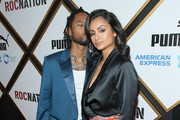 Miguel and and Nazanin Mandi attend 2019 Roc Nation THE BRUNCH on February 9, 2019 in Los Angeles, California.