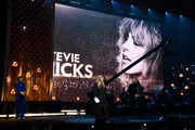 Harry Styles presents inductee Stevie Nicks at the 2019 Rock & Roll Hall Of Fame Induction Ceremony - Show at Barclays Center on March 29, 2019 in New York City.