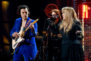 Harry Styles and inductee Stevie Nicks perform at the 2019 Rock & Roll Hall Of Fame Induction Ceremony - Show at Barclays Center on March 29, 2019 in New York City.