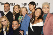 "(L-R) Murray Bartlett, Zosia Mamet, Laura Linney Charlie Barnett, Barbara Garrick, May Hong, Ashley Park, Josiah Victoria Garcia attend the premiere of ""Armistead Maupin's Tales Of The City"" at the Castro Theatre on April 10, 2019 in San Francisco, California."