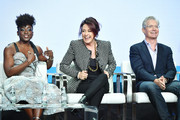 Ito Aghayere, Patricia Heaton and Kyle MacLachlan of Carol's Second Act speak during the CBS segment of the 2019 Summer TCA Press Tour at The Beverly Hilton Hotel on August 1, 2019 in Beverly Hills, California.