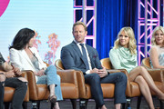 Shannen Doherty, Ian Ziering, Jennie Garth and Tori Spelling of BH 90210 speak during the Fox segment of the 2019 Summer TCA Press Tour at The Beverly Hilton Hotel on August 7, 2019 in Beverly Hills, California.