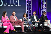 Shoshannah Stern, Josh Feldman, Mary Pat Bentel, Austin Nichols and Moshe Kasher of This Close speak during the AMC segment of the Summer 2019 Television Critics Association Press Tour 2019 at The Beverly Hilton Hotel on July 25, 2019 in Beverly Hills, California.