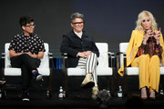 (L-R) Shakina Nayfack, Faith Soloway, Jill Soloway and Judith Light speak onstage during the Amazon Prime Video segment of the Summer 2019 Television Critics Association Press Tour at The Beverly Hilton Hotel on on July 27, 2019 in Beverly Hills, California.