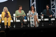 (L-R) Judith Light, Alexandra Billings, Amy Landecker and Jay Duplass of 'Transparent' speak onstage during the Amazon Prime Video segment of the Summer 2019 Television Critics Association Press Tour at The Beverly Hilton Hotel on on July 27, 2019 in Beverly Hills, California.