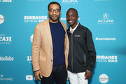 "Director Chiwetel Ejiofor and actor Maxwell Simba attend ""The Boy Who Harnessed The Wind"" Premiere during the 2019 Sundance Film Festival at The Ray on January 26, 2019 in Park City, Utah."