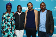"(L-R) Aissa Maiga, Maxwell Simba, Chiwetel Ejiofor and William Kamkwamba attend ""The Boy Who Harnessed The Wind"" Premiere during the 2019 Sundance Film Festival at The Ray on January 26, 2019 in Park City, Utah."