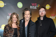 (L-R) Kate Maloney and Kevin Bacon attend the WeRiseUP Launch Event With Kevin Bacon during the 2019 Sundance Film Festival at TAO Nightclub on January 27, 2019 in Park City, Utah.