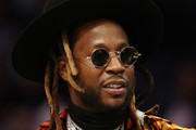 Rapper 2 Chainz looks on during the Taco Bell Skills Challenge as part of the 2019 NBA All-Star Weekend at Spectrum Center on February 16, 2019 in Charlotte, North Carolina.