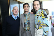Richie Jackson, Gideon Glick, and Jordan Roth attend the 2019 Tony Awards Nominees' Luncheon at The Rainbow Room on May 21, 2019 in New York City.