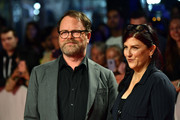 (L-R) Rainn Wilson and Holiday Reinhorn attend the 'Blackbird' premiere during the 2019 Toronto International Film Festival at Roy Thomson Hall on September 06, 2019 in Toronto, Canada.