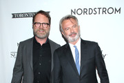 "(L-R) Rainn Wilson and Sam Neill attend the ""Blackbird"" premiere party at Nordstrom Supper Suite during the 2019 Toronto International Film Festival at MARBL Restaurant on September 06, 2019 in Toronto, Canada."