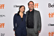 (L-R) Holiday Reinhorn and Rainn Wilson attend the 'Blackbird' premiere during the 2019 Toronto International Film Festival at Roy Thomson Hall on September 06, 2019 in Toronto, Canada.