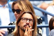 Bob Sinclar, DJ and music producer, watches as Rafael Nadal of Spain  takes on Daniil Medvedev of Russia during their Men's Singles final match on day fourteen of the 2019 US Open at the USTA Billie Jean King National Tennis Center on September 08, 2019 in the Queens borough of New York City.