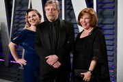 (L-R) Chelsea Hamill, Mark Hamill, and Marilou York attend the 2019 Vanity Fair Oscar Party hosted by Radhika Jones at Wallis Annenberg Center for the Performing Arts on February 24, 2019 in Beverly Hills, California.