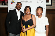 (L-R) Kris Bowers, Niecy Nash and Asante Blackkk attend 2019 Wanderluxxe Pre-Emmy Diversity Luncheon at Craig's Restaurant on September 21, 2019 in West Hollywood, California.