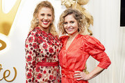 (L-R) Jodie Sweetin and Candace Cameron Bure attend Hallmark Channel And Hallmark Movies And Mysteries 2019 Winter TCA Tour at Tournament House on February 09, 2019 in Pasadena, California.