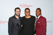 (L-R) Jose Parla, Schele Williams and Daniel J. Watts attend the YoungArts New York Gala at the Metropolitan Museum on April 16, 2019 in New York City.