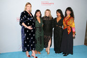 (L-R) Sarah Arison, Jewel Malone, Stacey Glassman Mizener,  Dejha Carrington and Lisa Leone attend the YoungArts New York Gala at the Metropolitan Museum on April 16, 2019 in New York City.