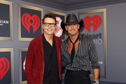(EDITORIAL USE ONLY) (L-R) Bobby Bones and Tim McGraw attends the 2019 iHeartRadio Music Festival at T-Mobile Arena on September 20, 2019 in Las Vegas, Nevada.