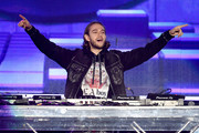 (EDITORIAL USE ONLY. NO COMMERCIAL USE)  Zedd performs onstage during the 2019 iHeartRadio Wango Tango Presented by The JUVÉDERM® Collection of Dermal Fillers at Dignity Health Sports Park on June 01, 2019 in Carson, California.