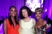 (L-R) Issa Rae, Melina Matsoukas, and Yvonne Orji attend the 2020 13th Annual ESSENCE Black Women in Hollywood Luncheon at Beverly Wilshire, A Four Seasons Hotel on February 06, 2020 in Beverly Hills, California.