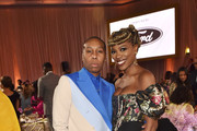 (L-R) Lena Waithe and Yvonne Orji attend the 2020 13th Annual ESSENCE Black Women in Hollywood Luncheon at Beverly Wilshire, A Four Seasons Hotel on February 06, 2020 in Beverly Hills, California.