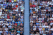 A general view of the crowd in the Semifinal match between Roger Federer of Switzerland and Novak Djokovic of Serbia on day eleven of the 2020 Australian Open at Melbourne Park on January 30, 2020 in Melbourne, Australia.