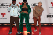 (L-R) apl.de.ap, J. Rey Soul, and Taboo of the Black Eyed Peas attend the 2020 Billboard Latin Music Awards at BB&T Center on October 21, 2020 in Sunrise, Florida.