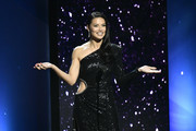 Adriana Lima speaks onstage during the 2020 Breakthrough Prize at NASA Ames Research Center on November 03, 2019 in Mountain View, California.