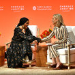 Tory Burch and Halima Aden