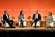 Steve Case, Partner & Member of the Management Committee Goldman Sachs Dina Powell McCormick, COO Bank of America Tom Montag and Tory Burch speak onstage during the 2020 Embrace Ambition Summit by the Tory Burch Foundation at Jazz at Lincoln Center on March 05, 2020 in New York City.