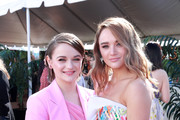 (L-R) Joey King and Hunter King attend the 2020 Film Independent Spirit Awards on February 08, 2020 in Santa Monica, California.