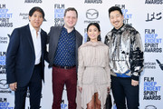 (L-R) Stephen Mao, Joe Pirro, Hong Chau, and Andrew Ahn attend the 2020 Film Independent Spirit Awards on February 08, 2020 in Santa Monica, California.