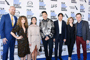 (2nd from L-R) Natalia Domoratskaya, Hong Chau, Andrew Ahn, Stephen Mao, guest, and Joe Pirro attend the 2020 Film Independent Spirit Awards on February 08, 2020 in Santa Monica, California.