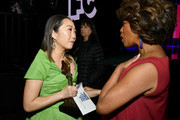 (L-R) Lulu Wang, who accepted Best Supporting Female for 'The Farewell' on behalf of winner Zhao Shuzhen, and Alfre Woodard attend the 2020 Film Independent Spirit Awards on February 08, 2020 in Santa Monica, California.