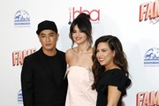 (L-R) Hung Vanngo, Selena Gomez and Marissa Marino attend the 2020 Hollywood Beauty Awards at The Taglyan Complex on February 06, 2020 in Los Angeles, California.
