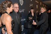 Jane Hajduk, Tim Allen and Joaquin Phoenix attend The 2020 InStyle And Warner Bros. 77th Annual Golden Globe Awards Post-Party at The Beverly Hilton Hotel on January 05, 2020 in Beverly Hills, California.